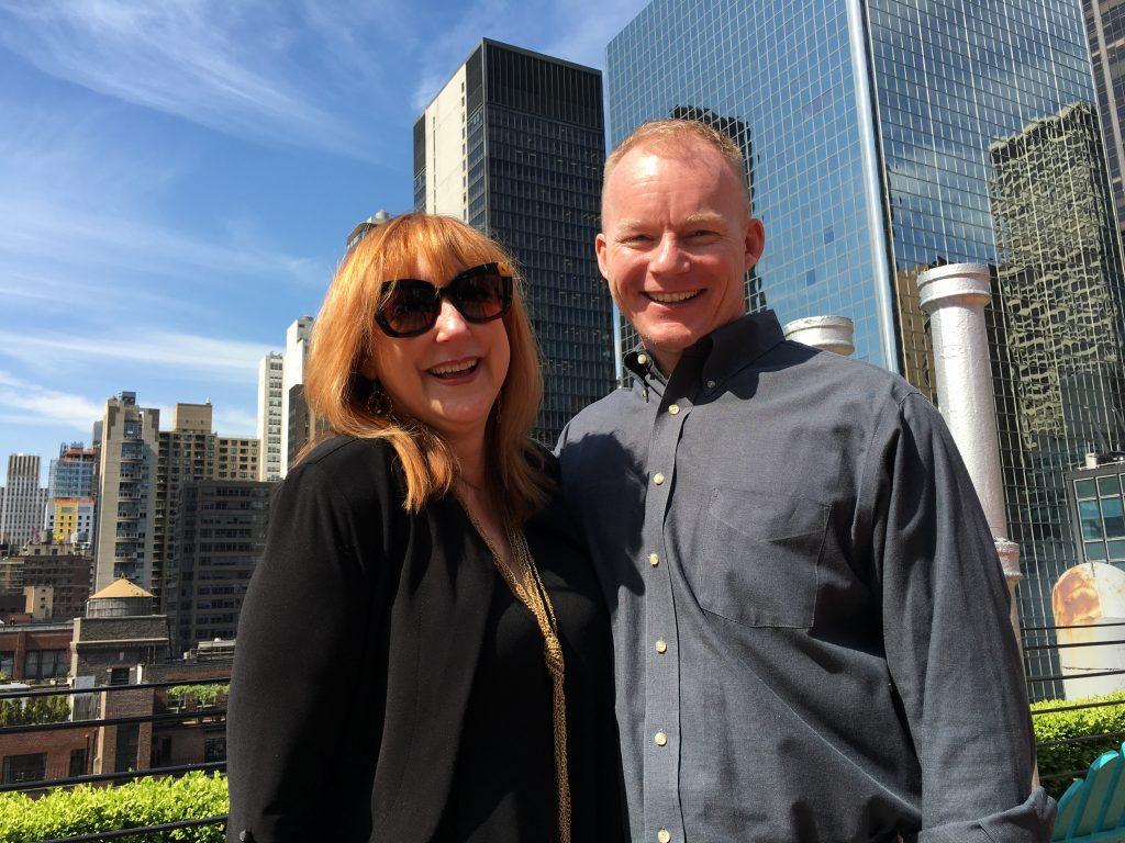 Nick May and Robin Baron in NYC